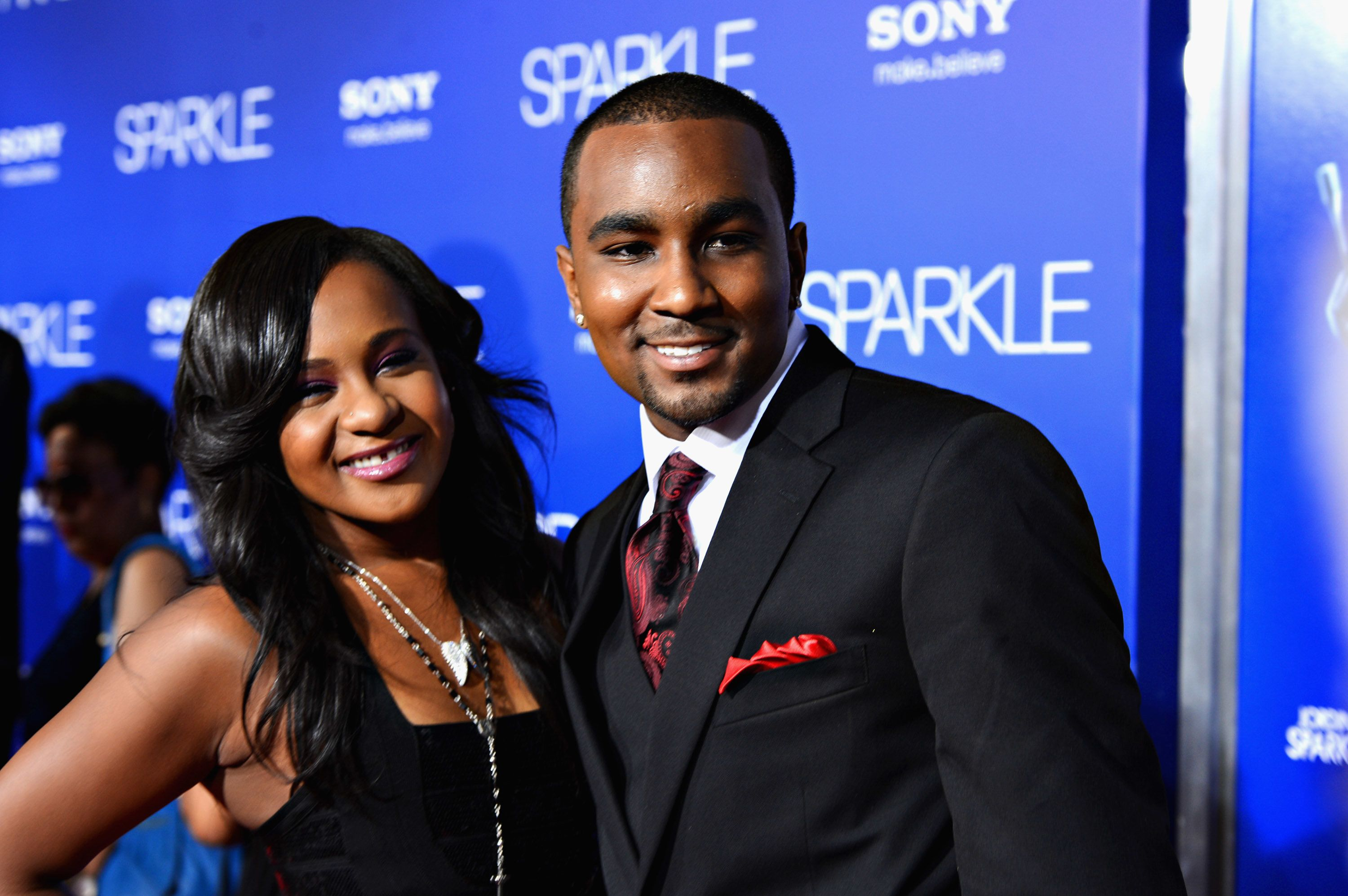 HOLLYWOOD, CA - AUGUST 16:  Bobbi Kristina Brown (R) and Nick Gordon arrive at Tri-Star Pictures' 'Sparkle' premiere at Grauman's Chinese Theatre on August 16, 2012 in Hollywood, California.  (Photo by Frazer Harrison/Getty Images)