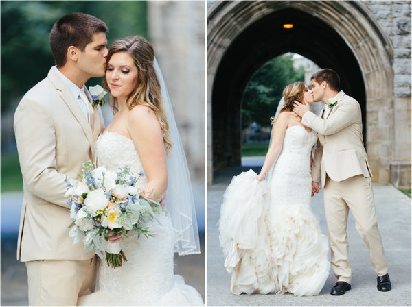 """""""Ben and Mackenzie got married at The German Club at Virginia Tech!"""" -<a href=""""http://www.elizabethlargephotography.com"""
