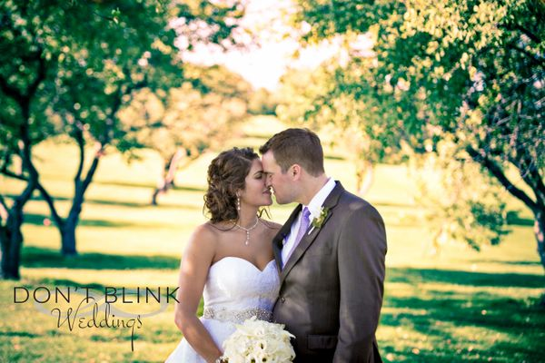 """""""Aaron and Samantha Klemm at their beautiful reception, located on an old apple orchard in Ravenna, Michigan. Congrats, you t"""