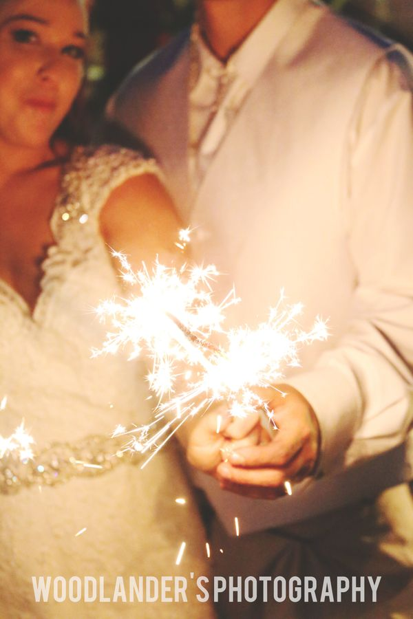 """""""Dale and Nicole's wedding night ended with a sparkler celebration complete with heart-shaped sparklers!"""" -<a href=""""htt"""