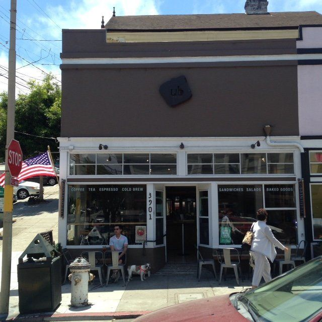 The view of Cafe UB from San Francisco's 18th Street.
