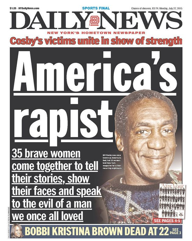 New York Daily News Calls Bill Cosby 'America's Rapist