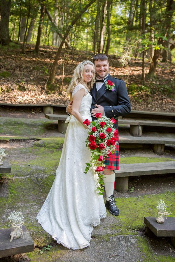 """""""Brent and Ashley were married at Bays Mountain Park in Kingsport, Tennessee this weekend with a traditional Celtic-style wed"""