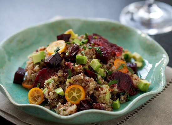 "<strong>Get the <a href=""http://www.loveandoliveoil.com/2011/04/beet-blood-orange-kumquat-and-quinoa-salad.html"">Beet, Blood"