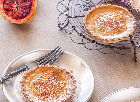 "<strong>Get the <a href=""http://www.ledelicieux.com/2012/10/08/blood-orange-brulee-tarts/"">Blood Orange Brulee Tart recipe</a"