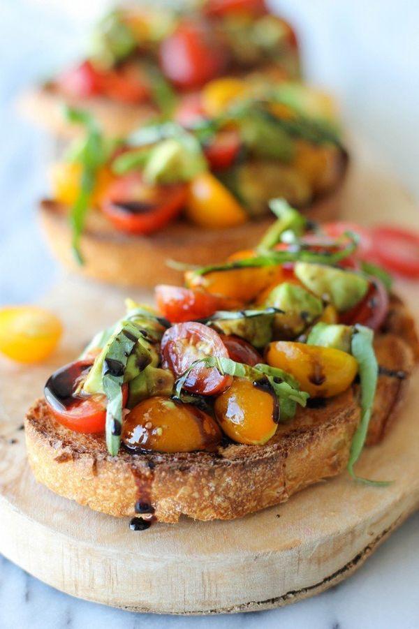 "<strong>Get the <a href=""http://damndelicious.net/2013/09/11/avocado-bruschetta-balsamic-reduction/"" target=""_blank"">Avocado"