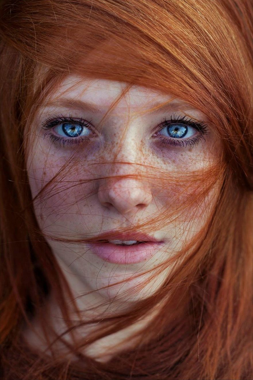 most beautiful redhead in the world
