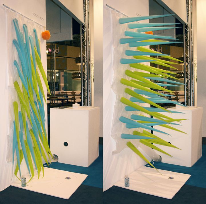 Spiky Shower Curtain Gets You Out Of Hot Water To Help Save The Environment