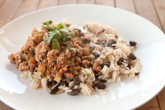 "<strong>Get the <a href=""http://www.macheesmo.com/2013/04/cuban-picadillo/"" target=""_blank"">Cuban Picadillo recipe</a> from M"