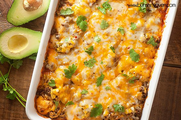 "<strong>Get the <a href=""http://www.bunsinmyoven.com/2014/04/24/bubble-up-enchilada-bake/"" target=""_blank"">Bubble Up Enchilad"