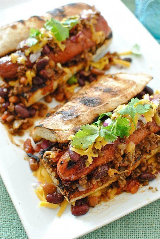 "<strong>Get the <a href=""http://bevcooks.com/2012/01/gourmet-chili-dogs/"" target=""_blank"">Chili Dog recipe</a> from Bev Cooks"