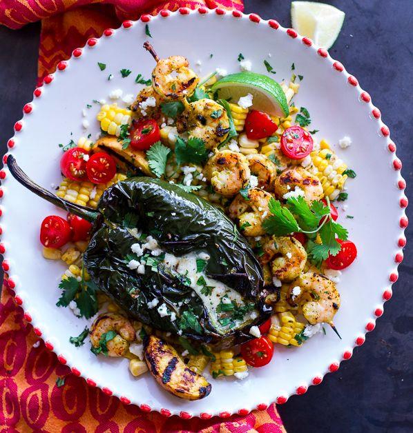 """<strong>Get the <a href=""""http://www.halfbakedharvest.com/grilled-chiles-rellenos-chipotle-peach-mojo-shrimp/"""" target=""""_blank"""""""