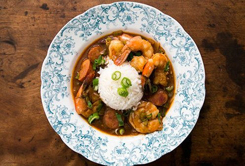 "<strong>Get the <a href=""http://www.simplyrecipes.com/recipes/shrimp_gumbo_with_andouille_sausage/"" target=""_blank"">Shrimp Gu"