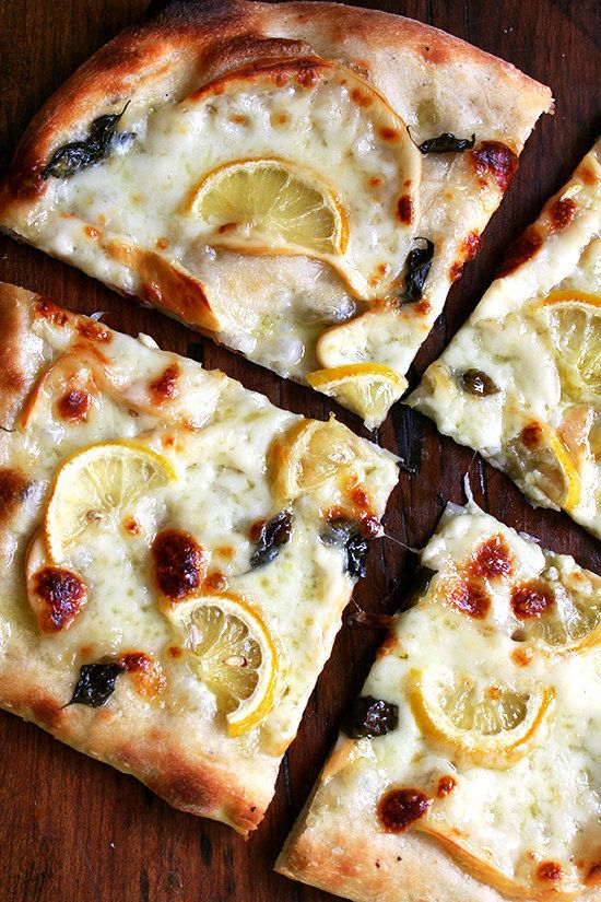 """<strong>Get the <a href=""""http://www.alexandracooks.com/2012/10/25/pizza-with-lemon-smoked-mozzarella-basil/"""" target=""""_blank"""">"""