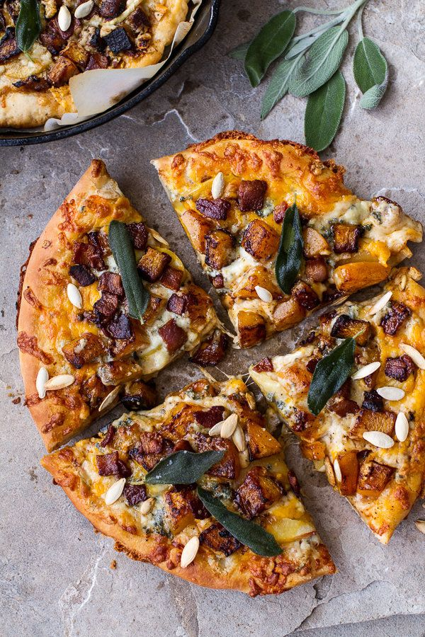 """<strong>Get the <a href=""""http://www.halfbakedharvest.com/sweet-n-spicy-roasted-butternut-squash-pizza-w-cider-caramelized-oni"""