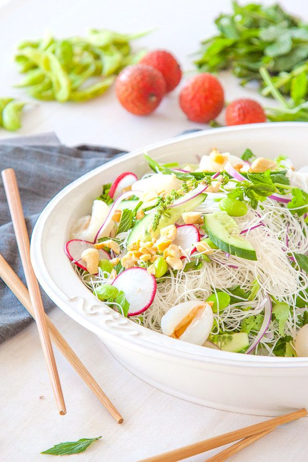 "<strong>Get the <a href=""http://www.deliciouseveryday.com/lychee-vermicelli-edamame-salad/"" target=""_blank"">Lychee, Vermicell"