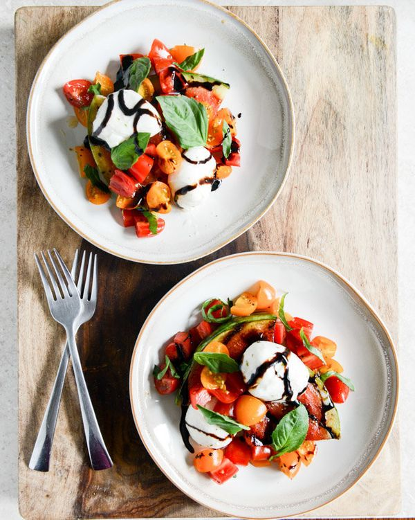 "<strong>Get the <a href=""http://www.howsweeteats.com/2013/07/honey-grilled-watermelon-caprese-salads/"" target=""_blank"">Honey"