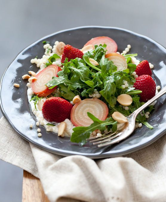"<strong>Get the <a href=""http://www.foodiecrush.com/2012/08/pickled-strawberry-roasted-beet-salad/"" target=""_blank"">Pickled S"