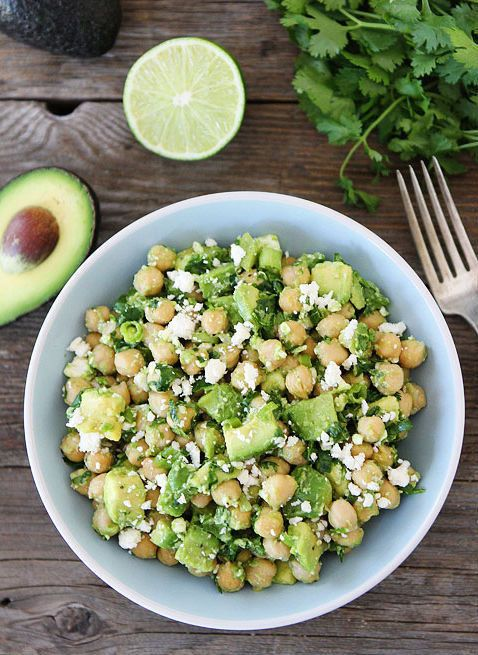 "<strong>Get the <a href=""http://www.twopeasandtheirpod.com/chickpea-avocado-feta-salad/"" target=""_blank"">Chickpea, Avocado, A"