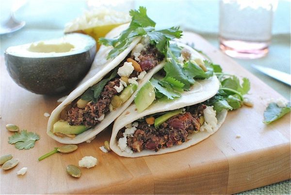 "<strong>Get the <a href=""http://bevcooks.com/2012/09/kidney-bean-and-quinoa-soft-tacos/"" target=""_blank"">Kidney Bean And Quin"
