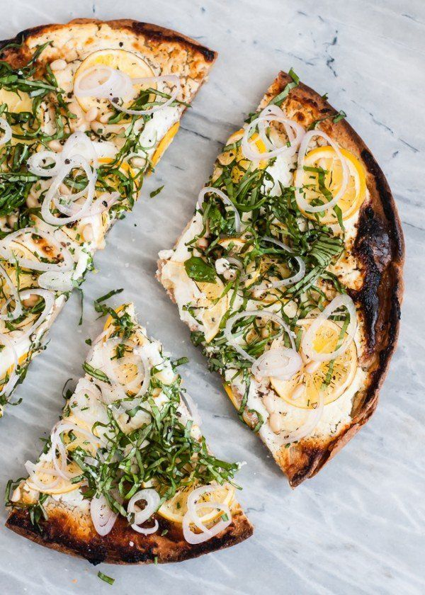 "<strong>Get the <a href=""http://cafejohnsonia.com/2014/04/quinoa-pizza-lemon-goat-cheese-basil.html"" target=""_blank"">Quinoa P"