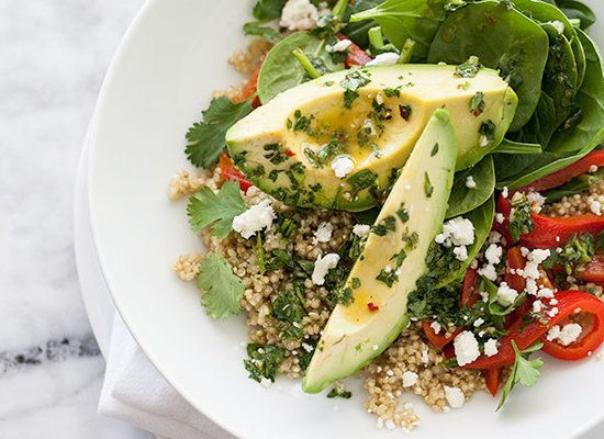 "<strong>Get the <a href=""http://www.foodiecrush.com/2013/04/quinoa-and-avocado-chimichurri-salad-for-food-bloggers-against-hu"