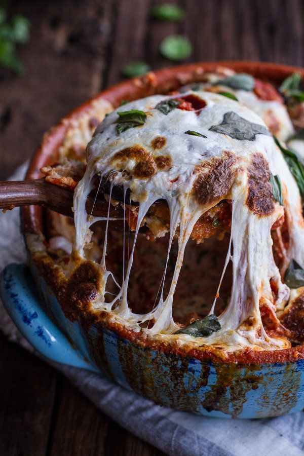 "<strong>Get the <a href=""http://www.halfbakedharvest.com/quinoa-crusted-baked-three-cheese-zucchini-eggplant-parmesan/"" targe"