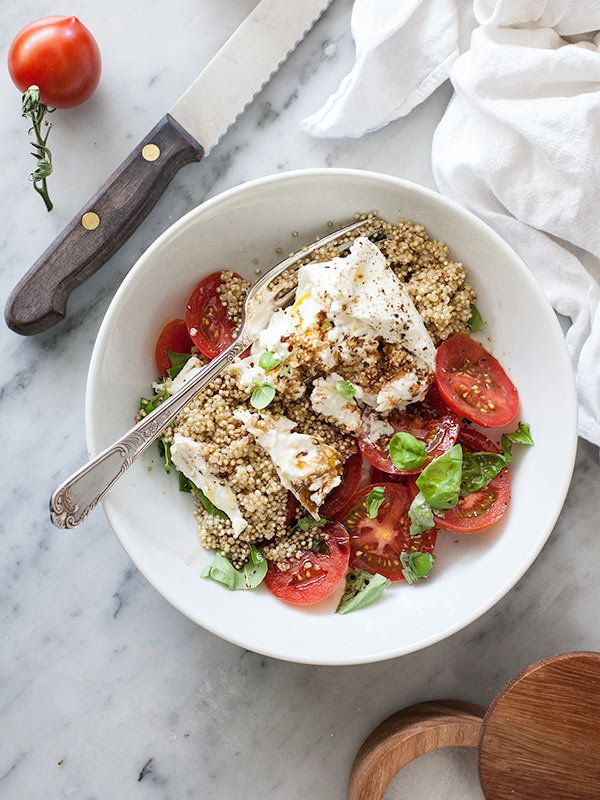 "<strong>Get the <a href=""http://www.foodiecrush.com/2013/05/quinoa-and-buratta-caprese-salad-and-8-favorite-whole-food-blogs/"