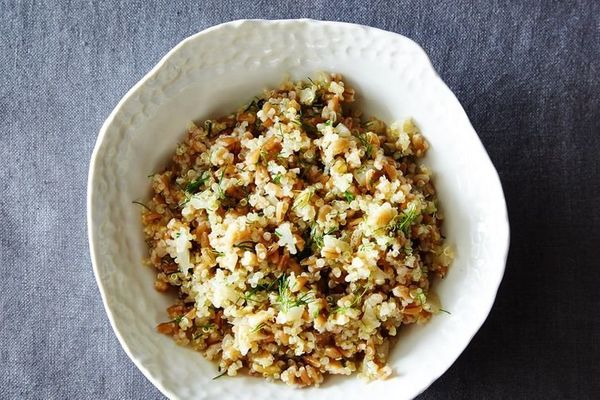 "<strong>Get the <a href=""http://food52.com/recipes/29139-quinoa-and-farro-salad-with-pickled-fennel"" target=""_blank"">Quinoa A"