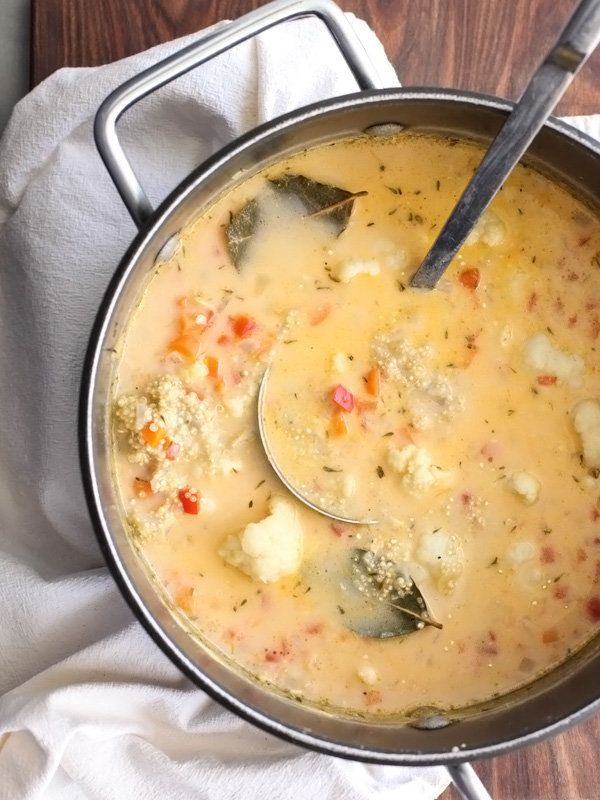 "<strong>Get the <a href=""http://www.foodiecrush.com/2014/03/gluten-free-quinoa-and-cauliflower-chowder/"" target=""_blank"">Quin"