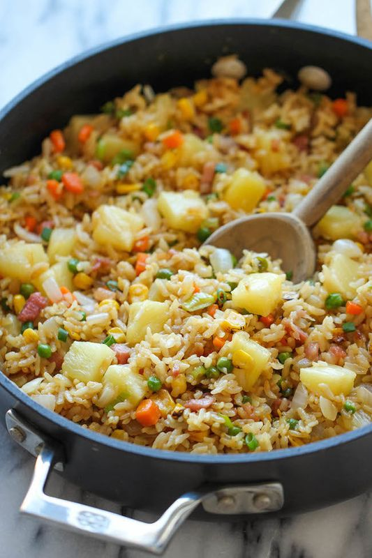 Get the Pineapple Fried Rice recipe from Damn Delicious