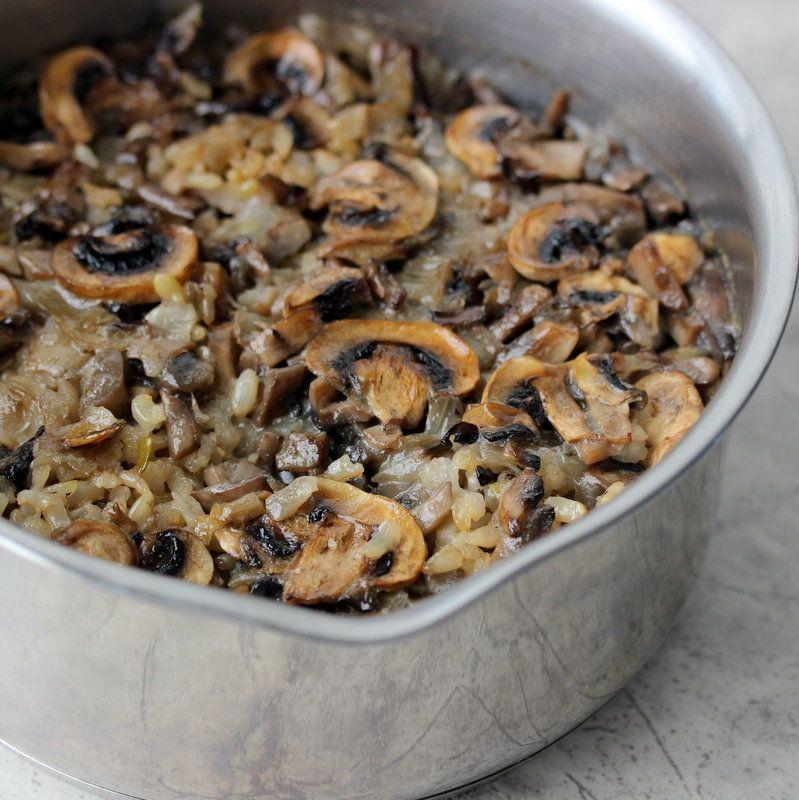 Get the Mushroom Rice Pilaf recipe from Savvy Naturalista