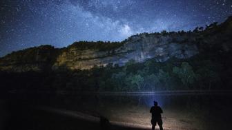 Star gazing under a beuatiful night sky.