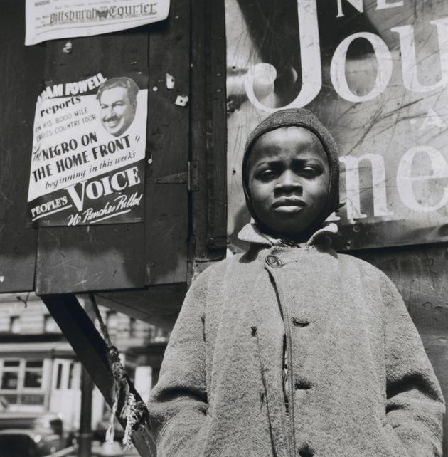 "Gordon Parks. ""Harlem Newsboy, Harlem, New York"" (One of the 'Other Visions')"