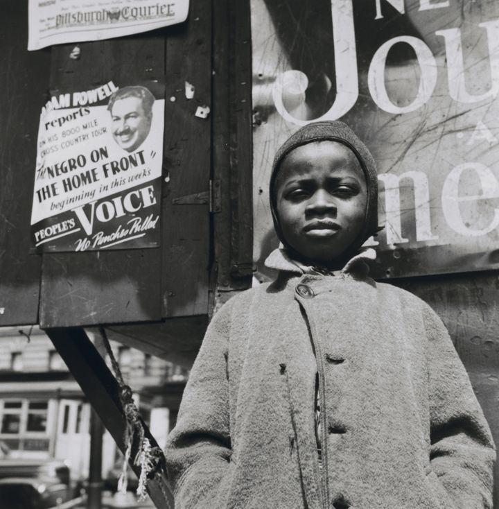 "<span>Gordon Parks. ""</span>Harlem Newsboy, Harlem, New York""(One of the 'Other Visions')"