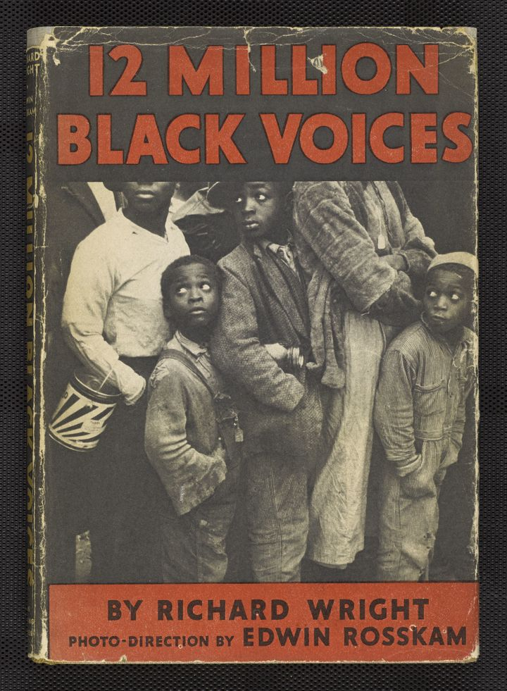 <span>Cover from Richard Wright, with photo-direction by Edwin Rosskam. 12 Million Black Voices.</span>