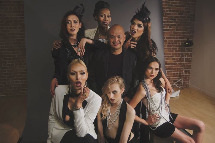 <p>Asuncion is pictured above with six transgender models already signed to Apple Model Management.</p>