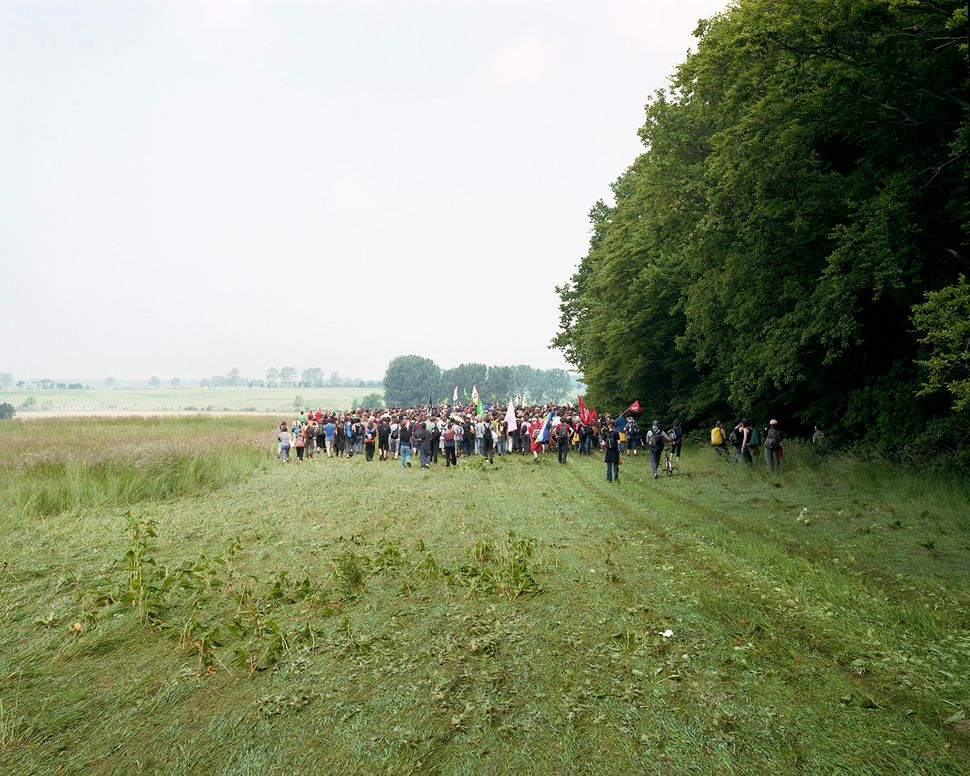 A crowd protests the G8 Summit in Heiligendamm, Germany, in 2007.