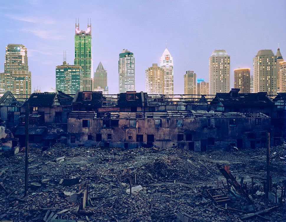 Shanghai Falling (Fuxing Lu Demolition) in 2002.