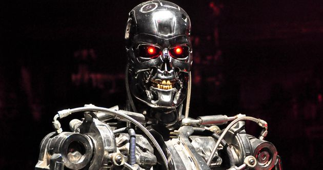 "A killer robot from the ""Terminator"" movies. Scientists and other thought leaders have issued a warning of a future in which autonomous robots are created to kill humans."
