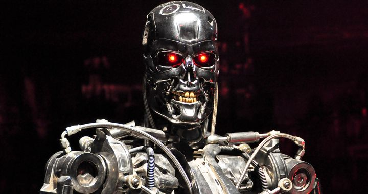 "A killer robot from the ""Terminator"" movies. Scientists and other thought leaders have issued a warning of a future in which"