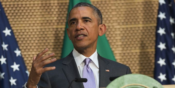 """President Barack Obama spoke about places where there is only """"democracy in name, but not in substance"""" on Tuesday"""