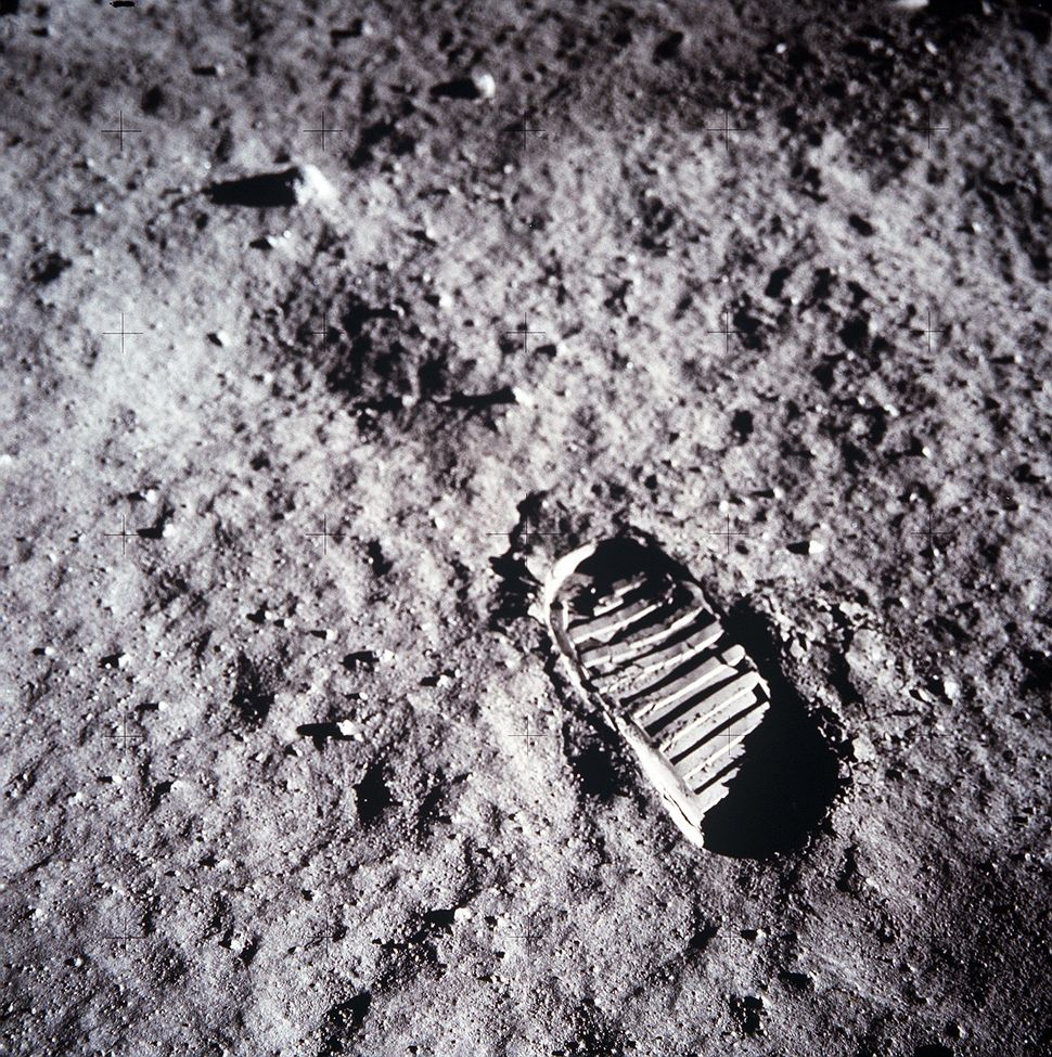 An astronaut's bootprint leaves a mark on the lunar surface on July 20, 1969 on the moon. (Photo by NASA/Newsmakers)