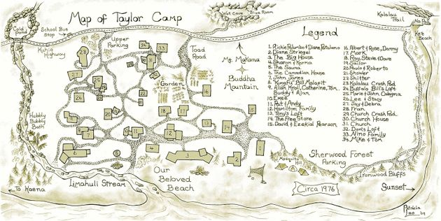taylor camp kauai map Haunting Nude Photos Bring 1970s Hippie Community Back To Life taylor camp kauai map