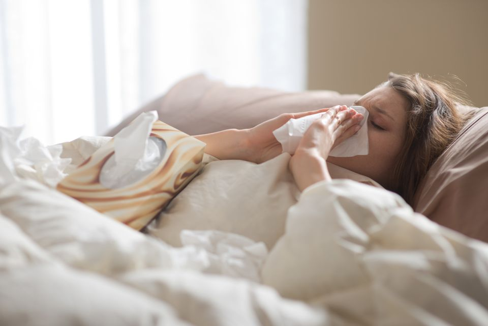 Pass the tissues -- and some gum, please. When a cold prevents you from breathing through your nose, you're forced to inhale