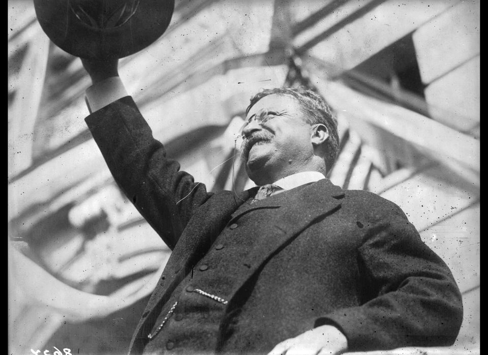 Former President Theodore Roosevelt champions national health insurance as he unsuccessfully tries to ride his progressive Bu
