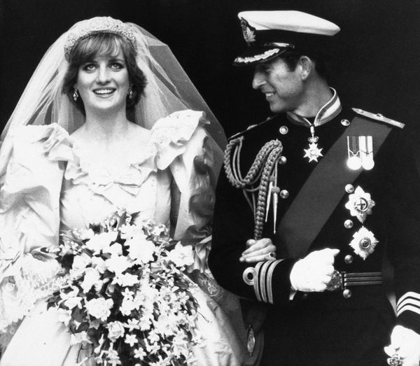 Prince Charles Looks At His Beaming Bride The Top Of St Paul S Steps After Their Marriage Press Ociation Ap