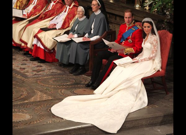 Prince William And Kate At Their Wedding Ceremony Westminster Abbey AFP Photo