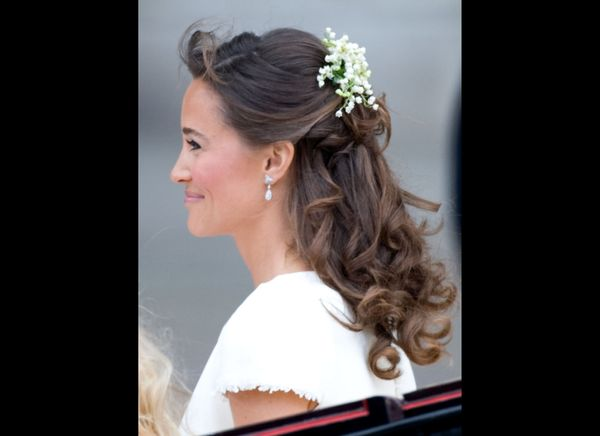 Pippa Middleton leaving the wedding ceremony.   (Getty photo)