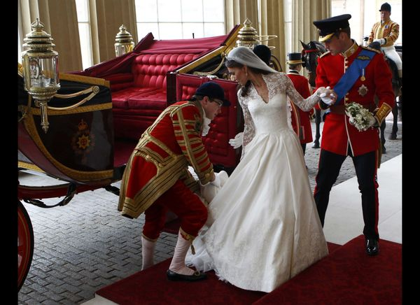 Prince William And Kate Arrive At Buckingham Palace After Their Wedding Ceremony Getty Photo